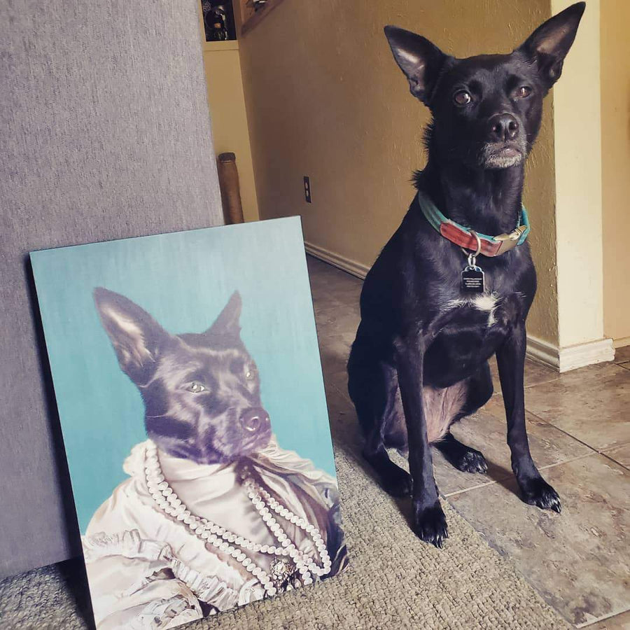 The Queen Regent - Custom Pet Canvas