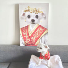 Load image into Gallery viewer, The Asian Empress - Custom Pet Canvas