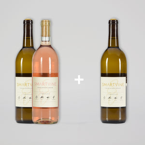 BUY 1 ROSÉ AND 1 WHITE GET 1 WHITE FOR A PENNY