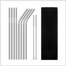 STAINLESS STEEL STRAW Silver