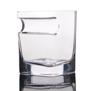 Whiskey & Rum Glass With Cigar Holder
