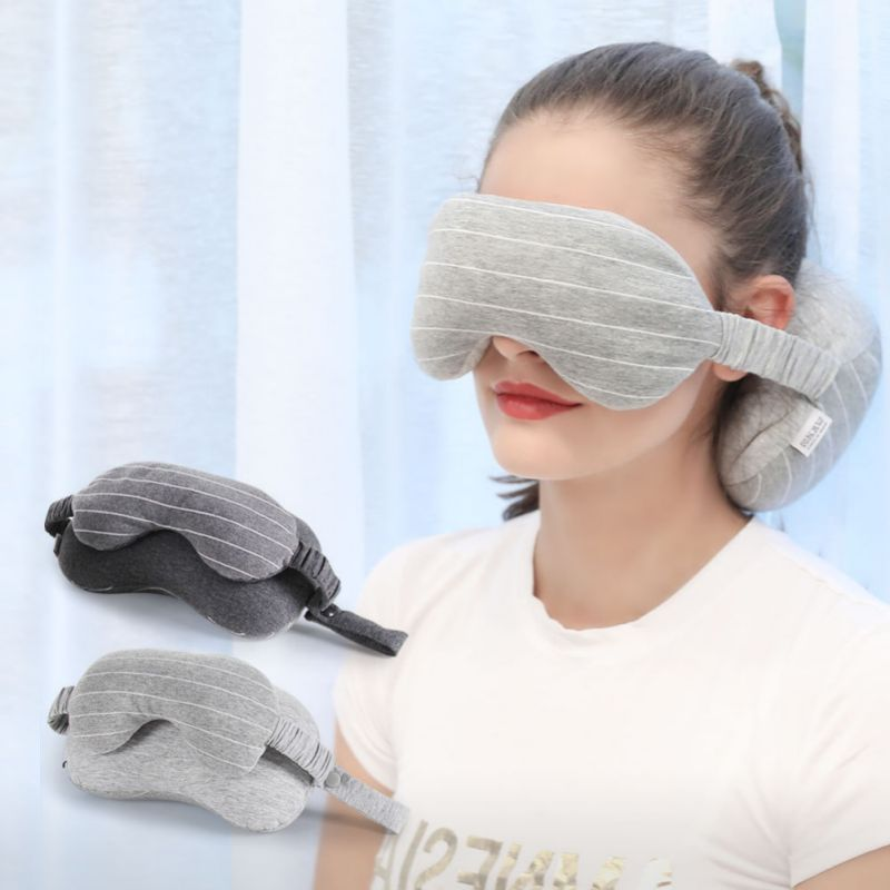 2-in-1 Sleeping Pillow With Eye Mask