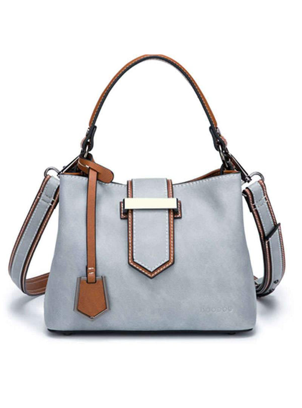 Matching Color Tote Bag With Buckle