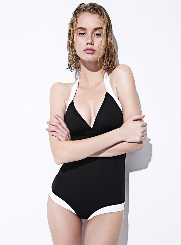 Black One Piece Women's Swimwear