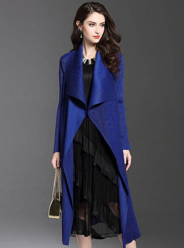 Solid Color Wrinkle Wind Coat