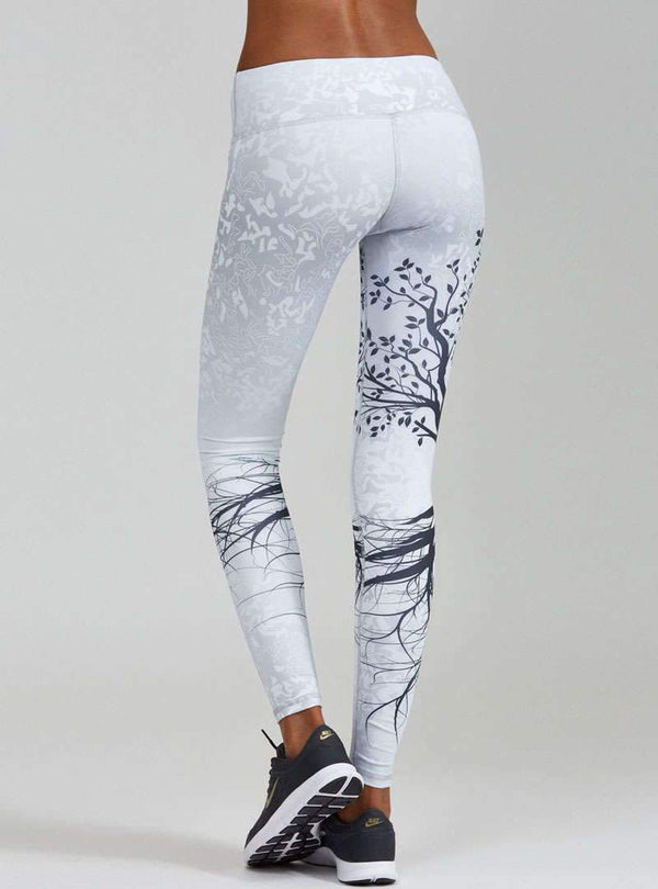 Floral Printed High Waist Yoga Pants
