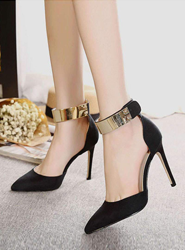 Suede Pointed Toe Stiletto Heels