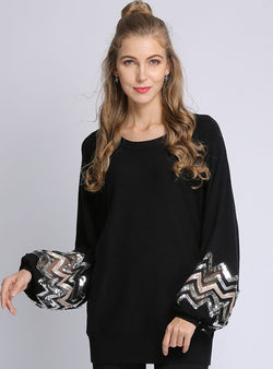 Black Casual Knitted Cardigan
