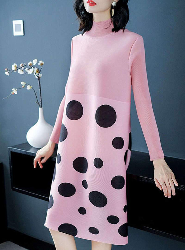Shift Daily Printed Polka Dots Midi Dress