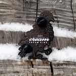 Cream Crystal Pigeon Pin