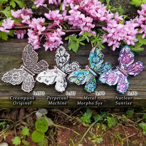 Steampunk Butterfly 4 Pin Set