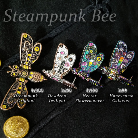 Steampunk Bee 4 Pin Set
