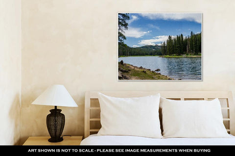 Image of Gallery Wrapped Canvas, Colorado Mountain Lake