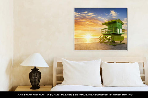 Image of Gallery Wrapped Canvas, Miami South Beach At Sunrise Floridusa