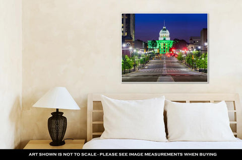 Image of Gallery Wrapped Canvas, Capitol Building Montgomery Alabamuswith State Capitol
