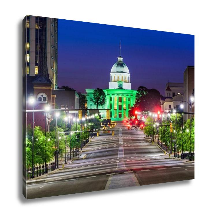 Gallery Wrapped Canvas, Capitol Building Montgomery Alabamuswith State Capitol