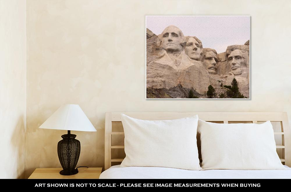 Gallery Wrapped Canvas, Closeup Of Mount Rushmore Black Hills Utah