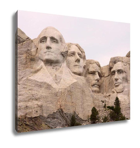 Image of Gallery Wrapped Canvas, Closeup Of Mount Rushmore Black Hills Utah