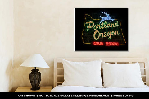 Image of Gallery Wrapped Canvas, Historic Portland Oregon Old Town Sign