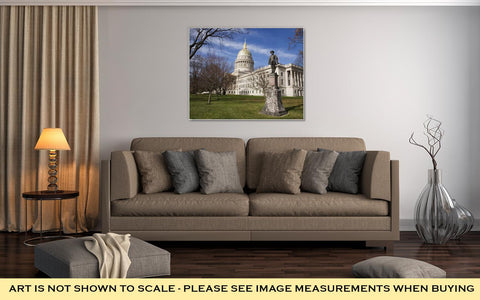 Image of Gallery Wrapped Canvas, Stonewall Jackson And Charleston West Virginia