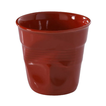 Froisses Cappuccino Crumple Tumbler, Pepper Red