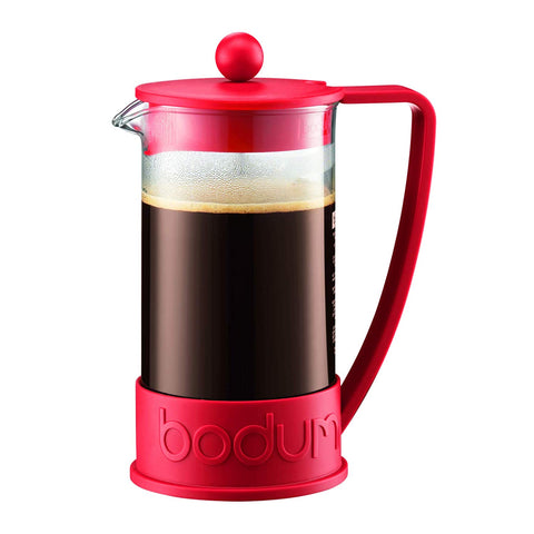 Brazil French Press Coffee Maker, 8 cup, Red