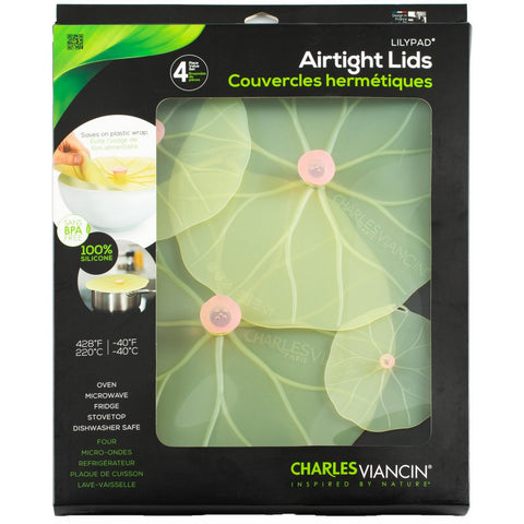 Airtight Silicone Lids Lilypad Gift Set of 4