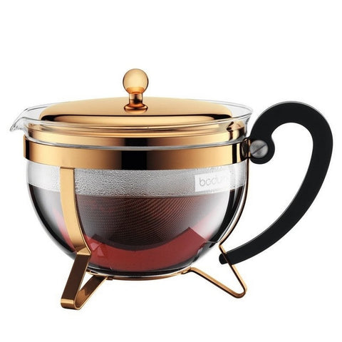 Chambord Tea Pot, 44 oz, Gold