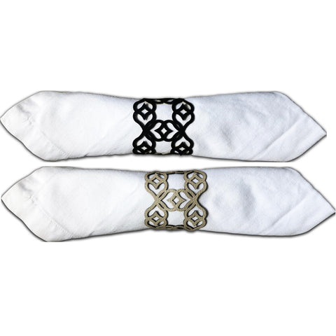 Milano Double-Sided Napkin Ring Set of 6