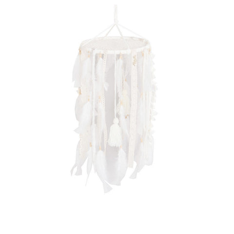 "Dream Catcher Mobile Beige - D9.5"" x L19.7"""