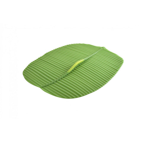 "Airtight Silicone Banana Leaf Oblong Lid 14"" x 10"""