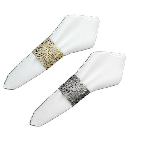 Blossom Double-Sided Napkin Ring Set of 6
