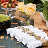 Foglia Double-Sided Napkin Ring Set of 6