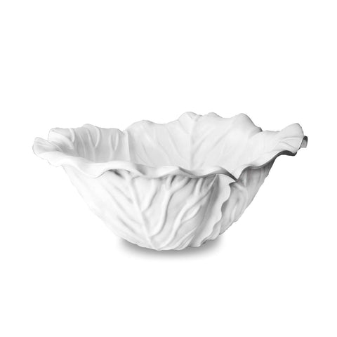 Vida Lettuce Large Bowl White
