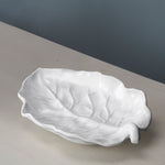 Vida Lettuce Medium Leaf Platter White