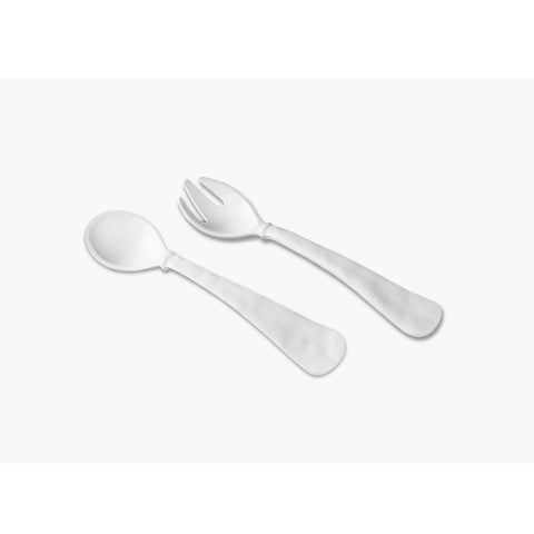 Vida Nube Large Salad Servers White
