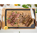 "Carving Series Large 23"" x 14"" Natural / Slate Cutting Board"