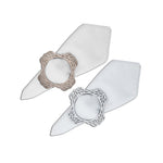 Floral Double-Sided Napkin Ring Set of 4
