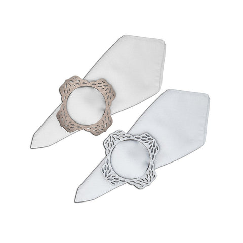 Floral Double-Sided Napkin Ring Set of 6
