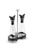 Balsam Portable oil and vinegar cruet set on an anti tip tray