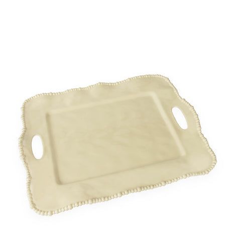 Vida Alegria Rectangle tray with handles Butter