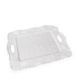 Vida Alegria Rectangle tray with handles White