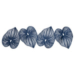 Blue Leaf Double-Sided Table Runner