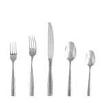 Lucca Faceted 18/10 SS Flatware Set, Service for 4, 20-Pc