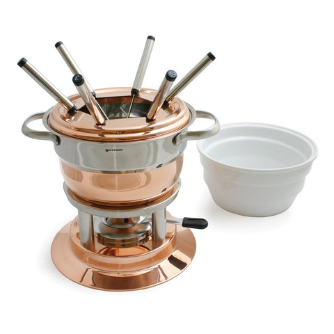 Lausanne 11pc Copper Fondue Set