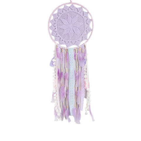 "Dream Catcher Lavender and Light Pink - D13.3"" x L37.4"""