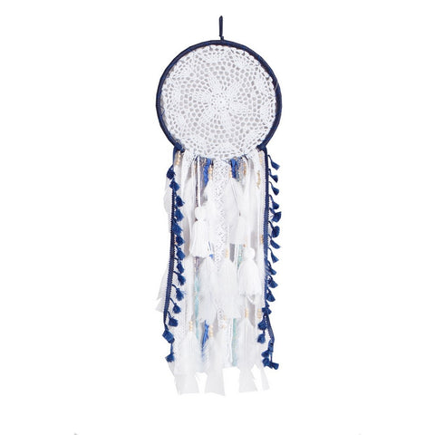 "Dream Catcher Navy Blue-White- D9.5"" x L27.5"""