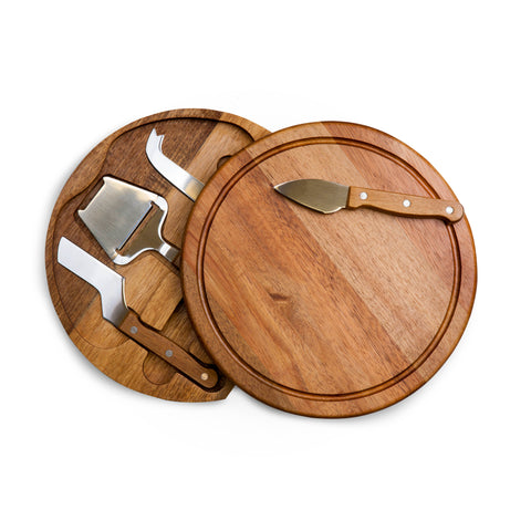 Circo Acacia Wood Cheese Board with Tools Set