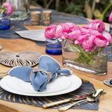 Blue Leaf Double-Sided Trivet