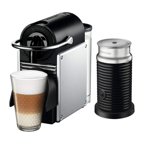 Pixie Espresso Machine with Aeroccino by De'Longhi, Aluminum
